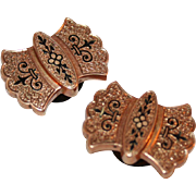 Victorian Stud Buttons c1875 12kt Gold Filled, Taille D'Epargne