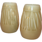 Pair of Rookwood Vases, Cattail Pattern c1948