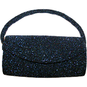 Vintage Josef Iridescent Glass Beaded Bag c1955