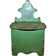 Salt Box in Apple Green Paint c1880