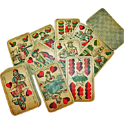German Playing Cards Four Seasons Wilhelm Tell c19th-early 20thC