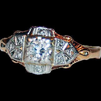 Diamonds and 14kt Yellow Gold Edwardian Ring ~ a Fabulous Choice!