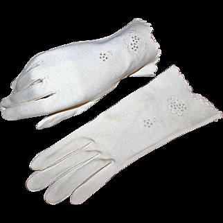Tasteful Vintage Daytime Dress Gloves c1954 West Germany