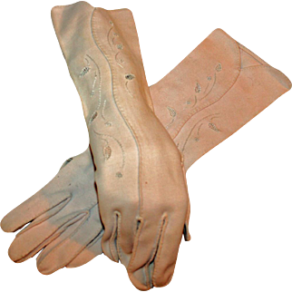 Vintage Classic Daytime Dress Gloves Pink c1953 Ex-Collection