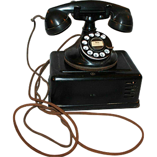 *Sale Pending* Original Art Deco Era Western Electric Telephone & Box c1927 #102