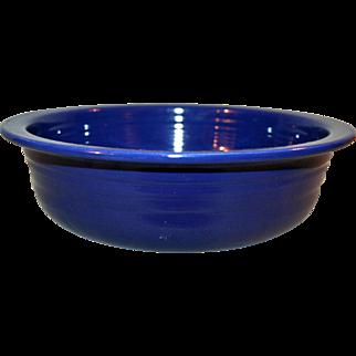 True Vintage Fiesta Ware Cobalt Nappie Bowl Mid-C  ~ 8.5 Inches