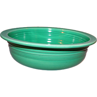 Authentic Mid-Century Fiestaware Nappie Bowl 8.5 Inches Original Green