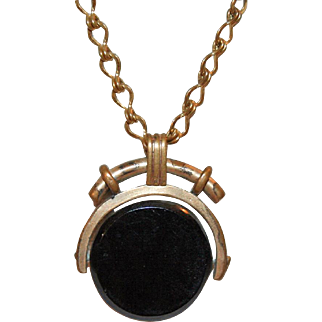*PENDING* Chain Necklace w/ Watch Fob Pendant c1895-1915 Rose Gold Filled