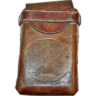 Leather Tennis Etui or Small Case c1930
