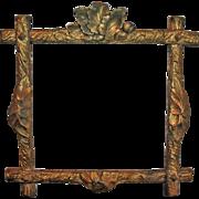 Adirondack Frame ~ Hand Carved Gilt Wood c1878