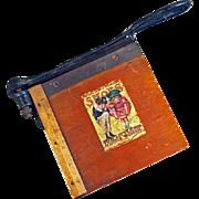Miniature Milton Bradler Paper Cutter c1895 Dry Goods Store Advertising