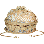 Vintage Pie Plate Purse c1930s Lady's At-Home Crochet Work