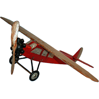 Folk Carved Monoplane c1940