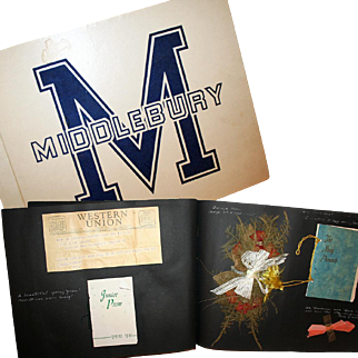 College Co-Ed's Scrapbook Middlebury Vermont Dated 1943-4