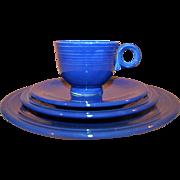 4-Pc Set Original Homer Laughlin Fiesta Ware Cobalt Blue c1940-50
