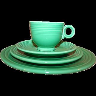 4-Pc Set Original Homer Laughlin Fiesta Ware Medium Green 1950s