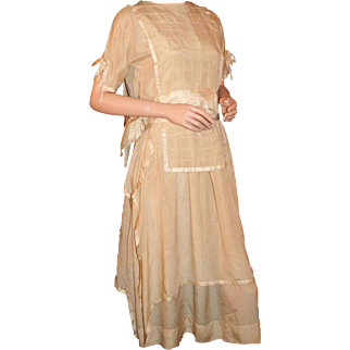 Vintage Art Deco Silk Formal Dress c1920s