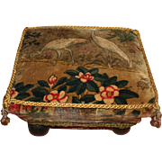 Small Footstool with Cranes c1920