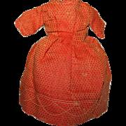 Doll Dress, Silk Brocade ~ Post Civil War c1865-70