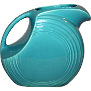 Vintage Fiestaware Disk Water Pitcher, Original Turquoise c1938-59
