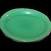 Vintage Fiestaware Large Oval Platter, Original Green  c1938-52