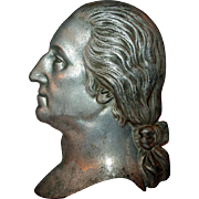 George Washington in Zinc, Head Study c1932 Bicentennial Piece