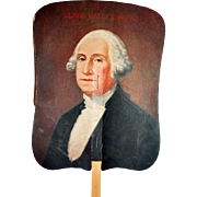 Advertising Fan George Washington Birthday Bicentennial  c1932