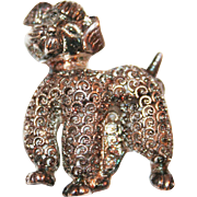 Sterling Silver Poodle Pin by Alice Caviness c1955