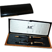 Mont Banc Meisterstuck Set Fountain Pen, Ball Point Pen in Original Fitted Case