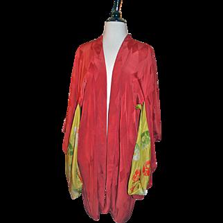 Vintage Silk Kimono c1920s Short Style