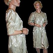 Classic Elegance ~ Silk / Silk Blend Brocade Dress c1958-65