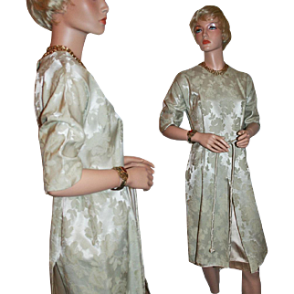 Classic Elegance ~ Silk / Silk Blend Brocade Dress c1958-65