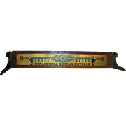 Advertising c1900 * Curtain Fixtures Sign ~ Painted Wood Topper for Dry Goods Shop Cash Register