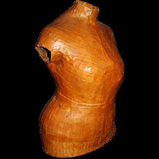 Deco Dress Form, Papier Mache, by NYS Dressmaker c1930