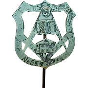 Masonic Grave Marker Mahanoy City Masons Lodge no.357 PA