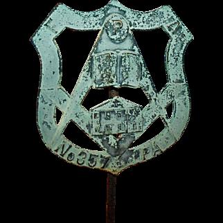 Masonic Grave Marker Mahanoy City Masons Lodge no.357 PA