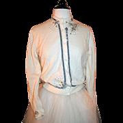 Vintage '50s Asymmetrical Sweater w/ Rhinestones, Beads, Velvet