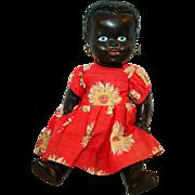 Black Doll w/ Ear Hoops c1945 England