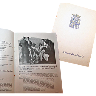 Little Booklet: 'Who Are The Cultured' ~ Publ. c1920s