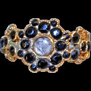 Georgian Mourning Ring 18kt Gold, Hair Locket Dated 1832