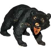 Black Forest Bear Hand Carved Early 20th Century