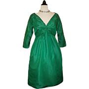 Vintage Saks Fifth Ave. Taffeta Cocktail Dress c1950 * Retro Elegance