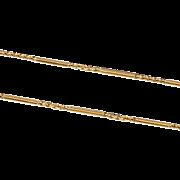 1920's 14 Kt Gold Chain, Lariat