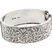Antique: Sterling Silver Bangle Hallmarked (1913)