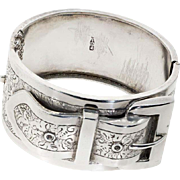 Antique: Sterling Silver Victorian Buckle Bangle