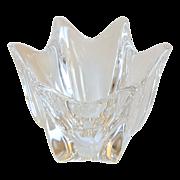 """Signed Belle Collection Orrefors Art Glass Crystal  4"""" Vase Bowl"""