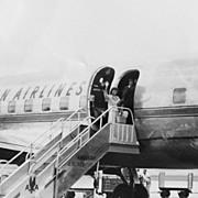R.C. Hickman Black History Photograph Dallas Texas 1950's Woman Boarding Plane