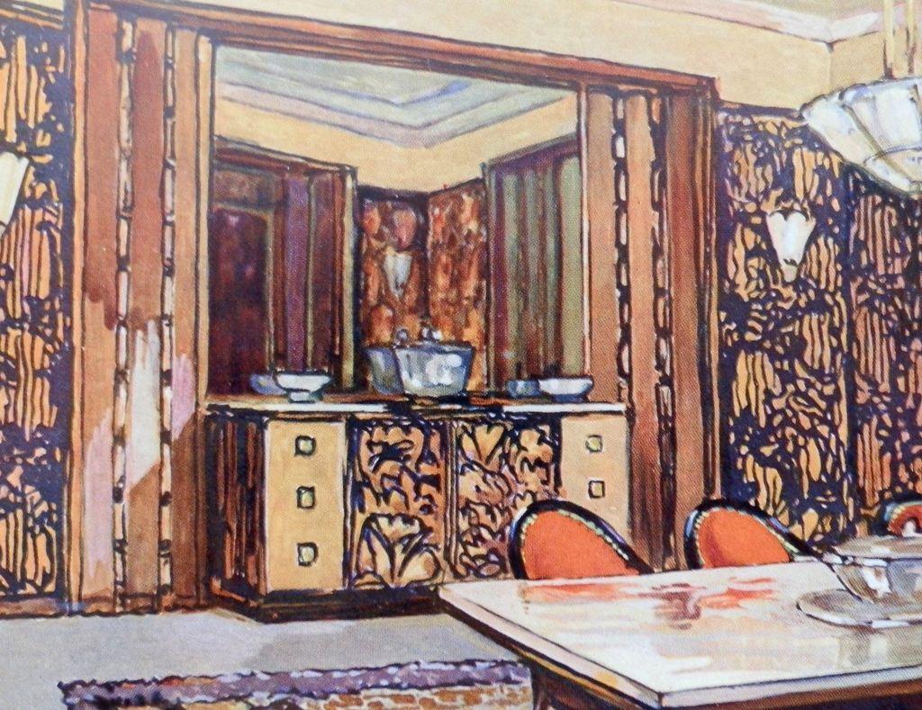 #A24829 1925 Art Deco Litho Portfolio Plate Andre Frechet Salle A  5007 salle à manger art déco 1024x789 px @ aertt.com