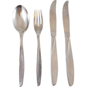 International Stainless Scope Flatware Dinner Knife Spoon Fork 4 Piece Set