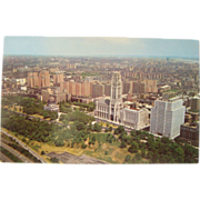 1960's Aerial View Riverside Church Interchurch Grant's Tomb NYC NOS Postcard
